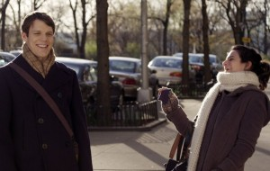 """Jake Lacy and Jenny Slate star in """"Obvious Child."""" Photo credit: A24 Films"""