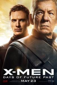 X-Men Days of Future Past stars Michael Fassbender and Ian McKellen. Photo credit: 20th Century Fox