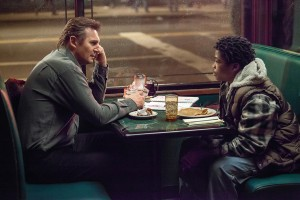 """Liam Neeson and Brian """"Astro"""" Bradley star in """"A Walk Among the Tombstones."""" Photo Credit: Universal Studios."""