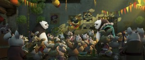 "Jack Black, Angelina Jolie, Bryan Cranston, J.K. Simmons, Dustin Hoffman, Seth Rogen, David Cross, Lucy Liu and Jackie Chan star in ""Kung Fu Panda 3."" Photo Credit: DreamWorks Animation."