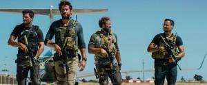 """13 Hours: The Secret Soldiers of Benghazi"" stars John Krasinski, David Denman, Pablo Schreiber and Dominic Fumusa. Photo Credit: Paramount Pictures."