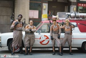 """Ghostbusters"" stars Melissa McCarthy, Kristen Wiig, Kate McKinnon and Leslie Jones. Photo Credit: Columbia Pictures."