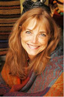 Karen Allen in Fiber Art Sweater