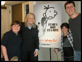 Diary of a Wimpy Kid Robert,Sarah, Zachary and author Jeff Kinney