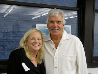 Sarah Adamson with Dennis Farina. Photo Credit: Tyna S. Cline