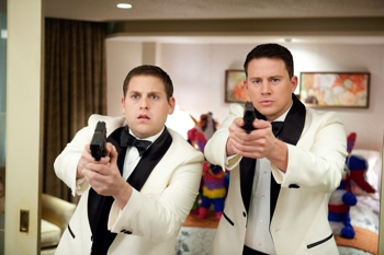 Jonah Hill, left, and Channing Tatum star in Columbia Pictures' action comedy