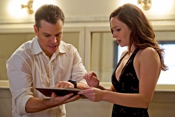 Matt Damon and Emily Blunt in