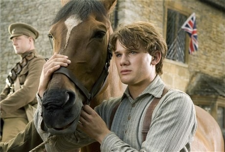 Albert (Jeremy Irvine) and his horse Joey are featured in this scene from DreamWorks Pictures'